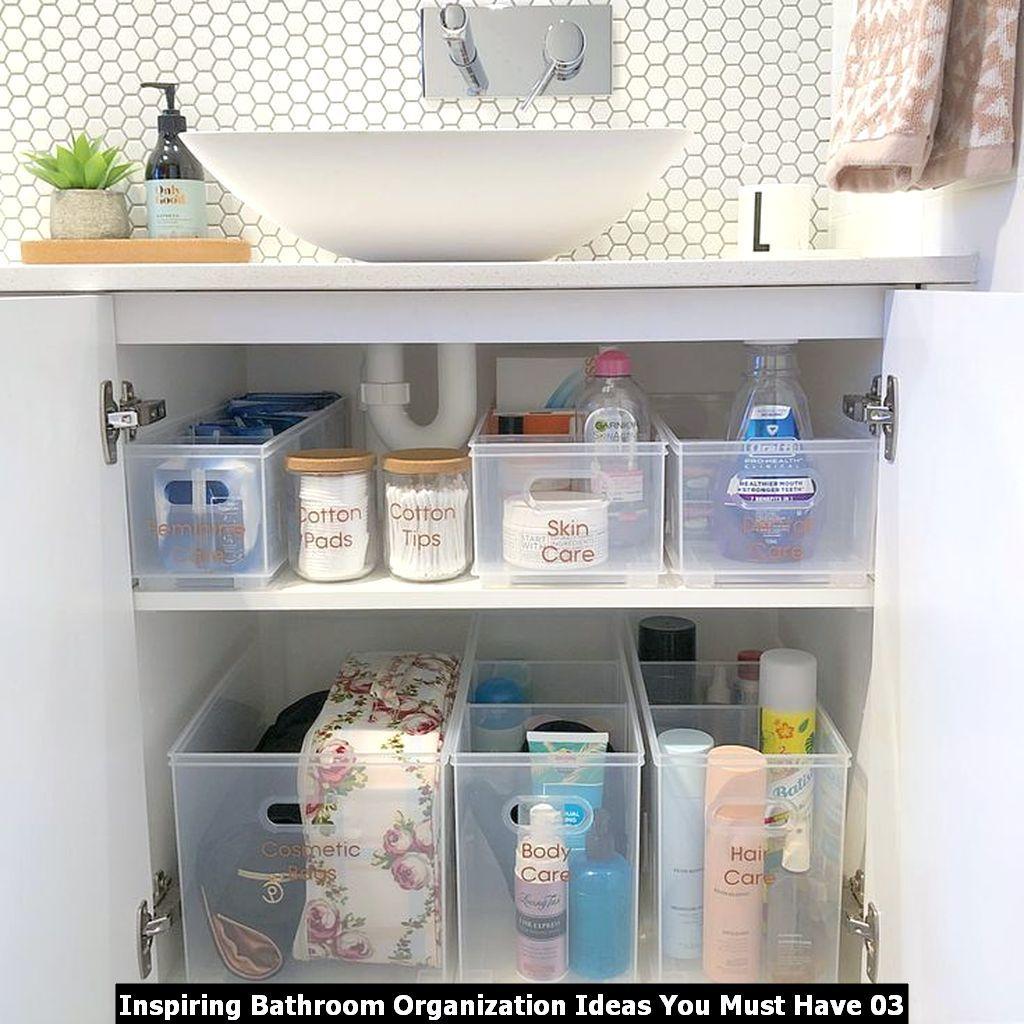 Inspiring Bathroom Organization Ideas You Must Have Homyhomee Bathroom Organisation Bathroom Sink Organization Diy Bathroom Storage [ 1024 x 1024 Pixel ]