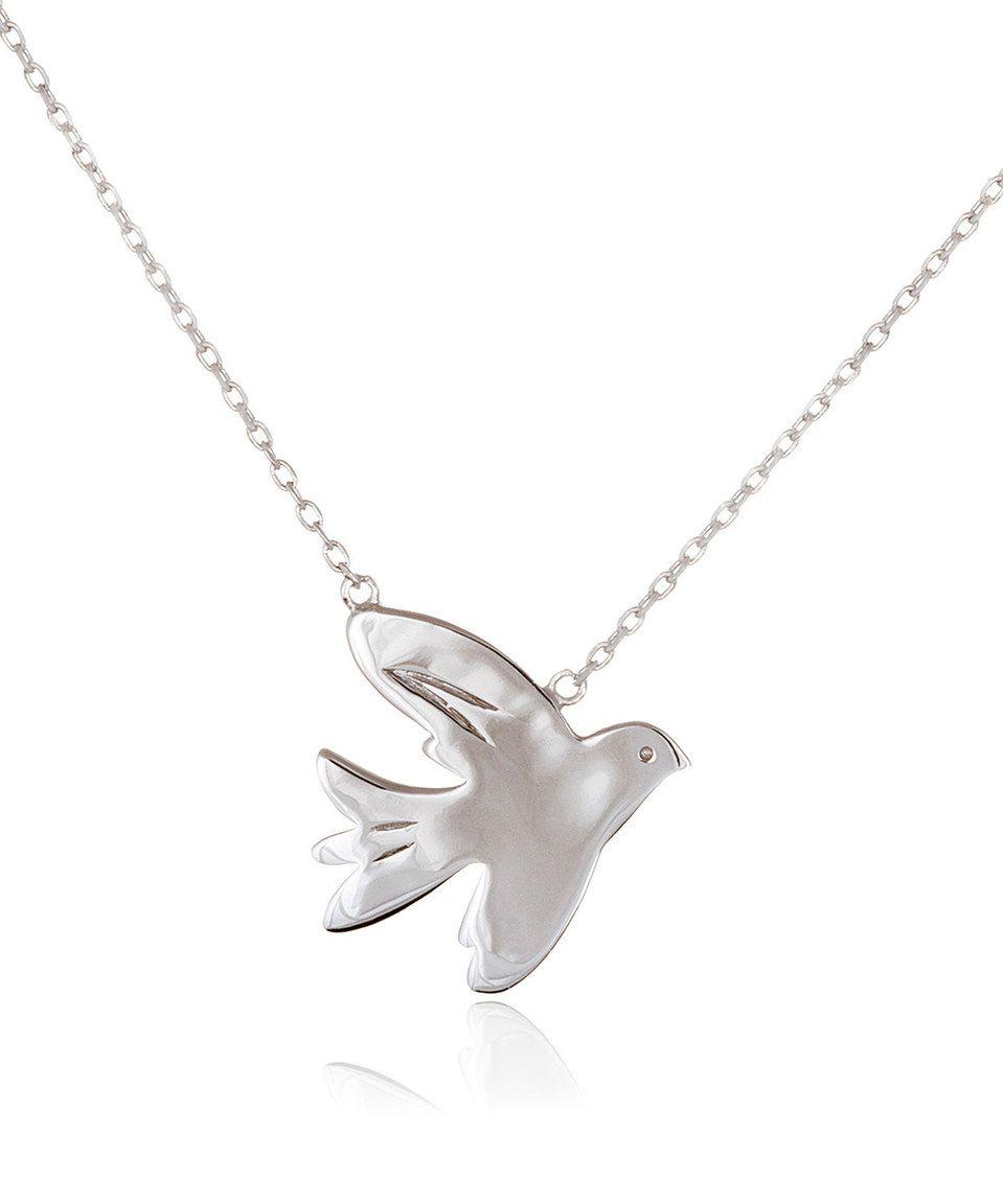 Kathy davis scatter joy sterling silver dove pendant necklace kathy davis scatter joy sterling silver dove pendant necklace mozeypictures Images