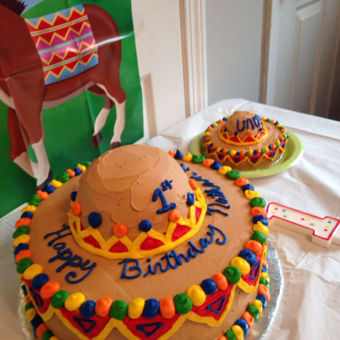 Cinco De Mayo 1st Birthday Cake And Smash Cake Made By Amy Mullett