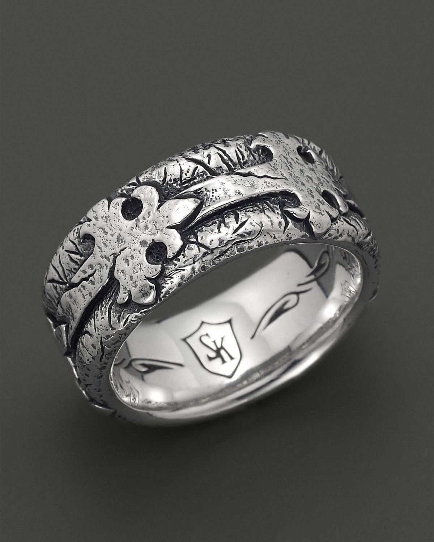 Scott Kay Men's Sterling Silver Distressed Fleur de Lis