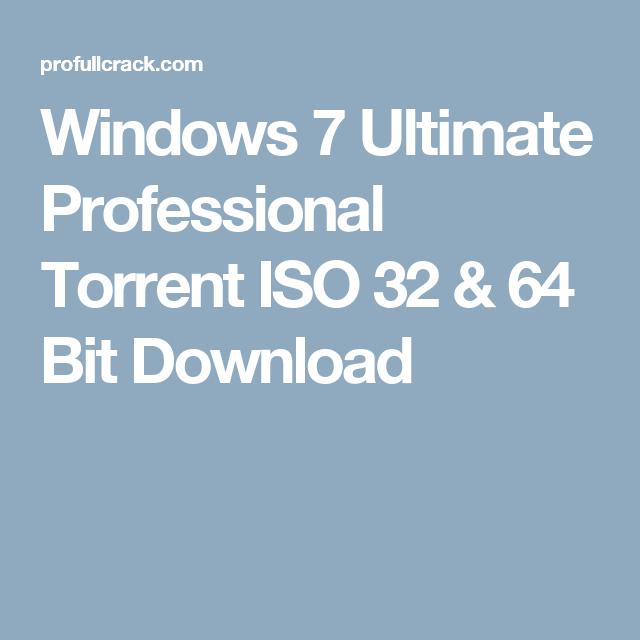 windows 7 professional torrent download
