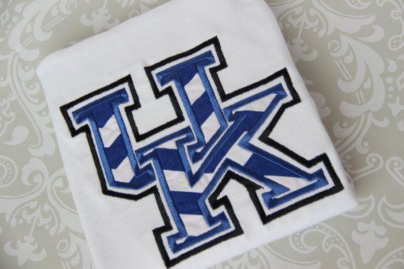 University of kentucky wildcat applique shirt cats personalized