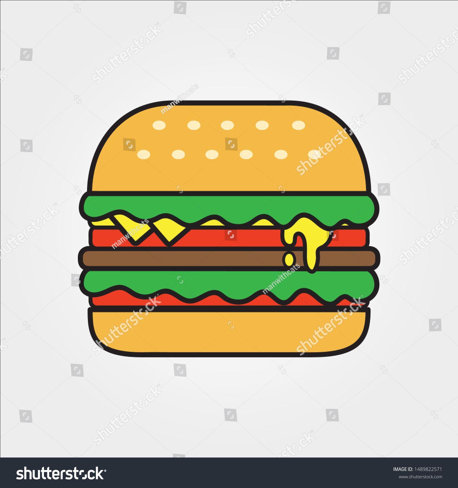 Hamburger Fast Food Vector business logo, icons template