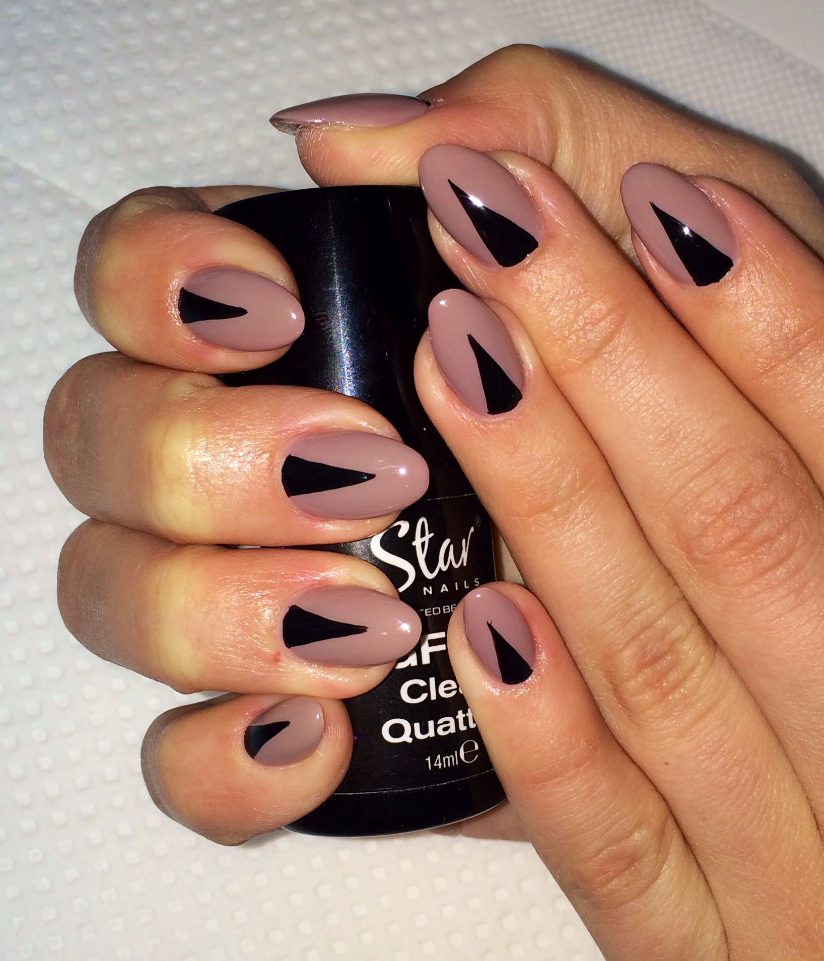 Nude taupe almond nails with black triangle nail art summer 2014 taupe color nails almond shaped nails black triangle on nude nails nail ideas spring summer 2014 design prinsesfo Choice Image