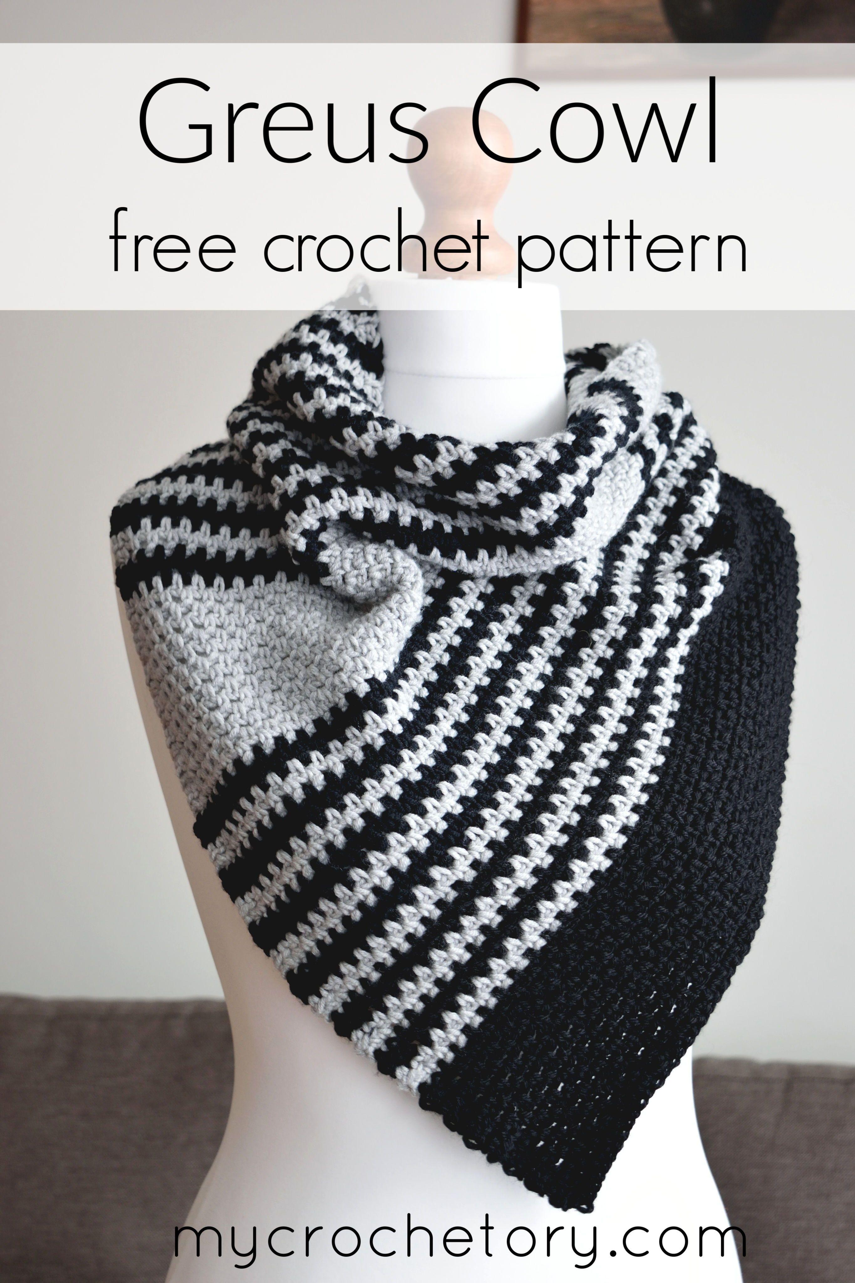 Crochet Greus Asymmetric Cowl - MyCrochetory