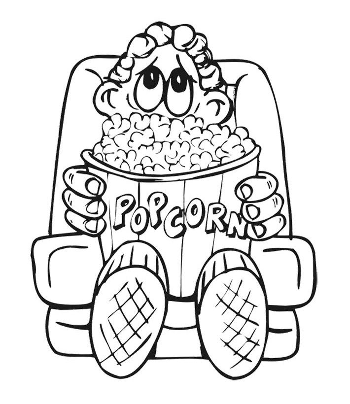 Printable Garfield And Big Popcorn Coloring Pages Food Coloring Coloring Pages Family Coloring Pages Food Coloring Pages