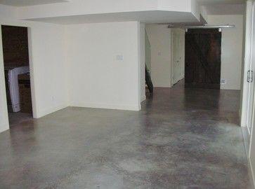 Modern Natural Eco Friendly Basement Concrete Floors Modern