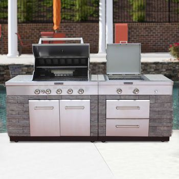 kitchenaid outdoor kitchen burner kitchenaid 7burner island grill for the home pinterest