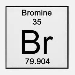 this is bromine atomic number 35 atomic mass 79904 symbol br interesting fact at room temp it is a liquid