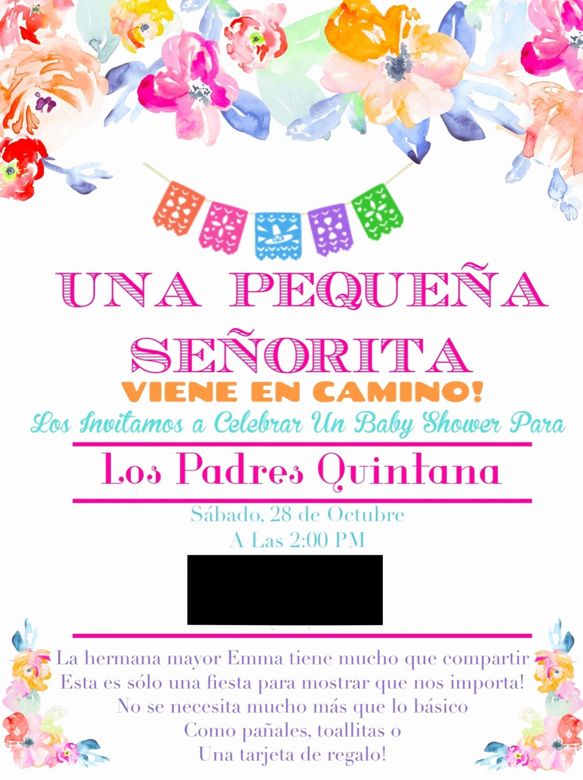 Baby Shower Invitations In Spanish : shower, invitations, spanish, Shower, Invitations, Spanish, Beautiful, Mexican, Theme, Showe…, Simple, Invitations,, Sports