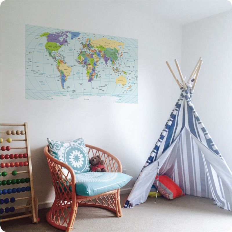In the nursery of the bale home home ideas pinterest in the nursery of the bale home world map postermaps gumiabroncs Images