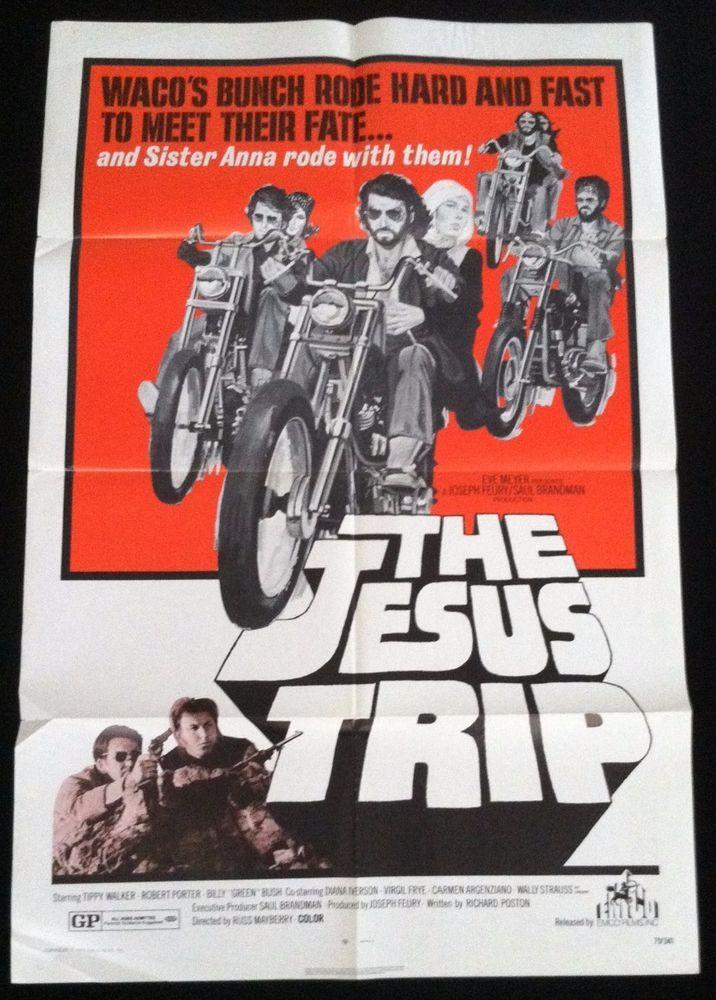 Authentic 1 Sheet Movie Poster The Jesus Trip Exploitation