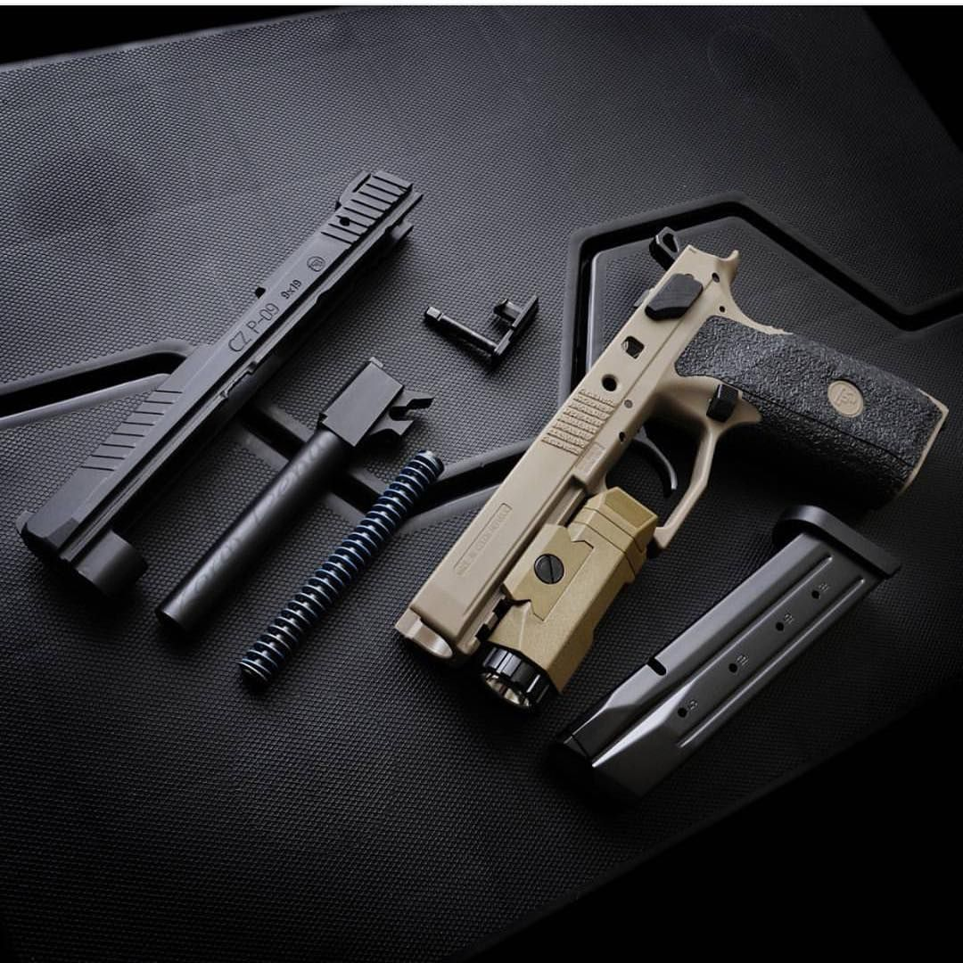 CZ P09 with Inforce APL, field stripped   Defense Weapons   Guns