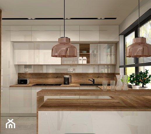 Aranzacja Kuchni I Salonu W Domu Jednorodzinnym Duza Otwarta