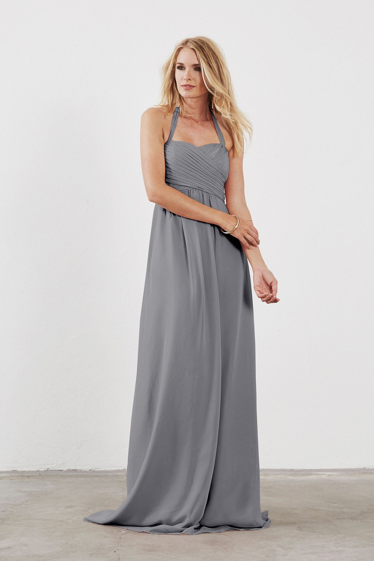 Chloe grey products and dress in dove dahlia chloe bridesmaid dress in grey in chiffon ombrellifo Gallery