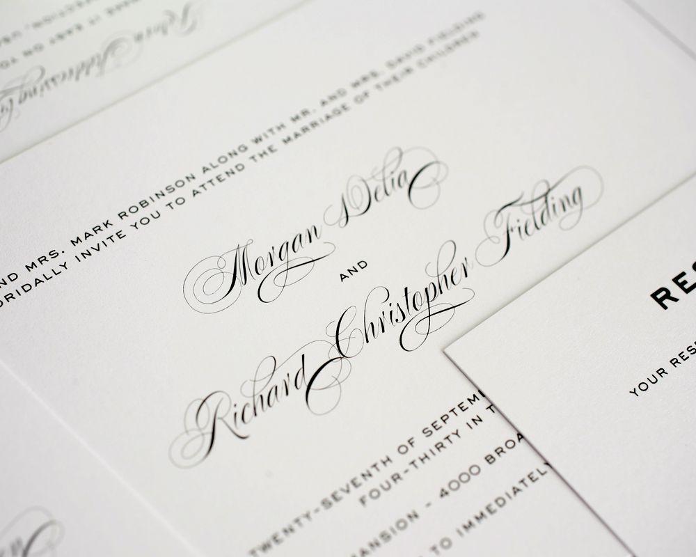 Classic Vintage Wedding Invitations | Vintage wedding invitations ...