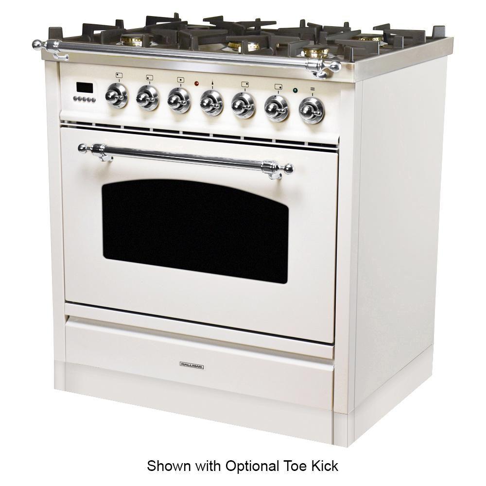 Hallman 30 In 3 0 Cu Ft Single Oven Italian Gas Range With True