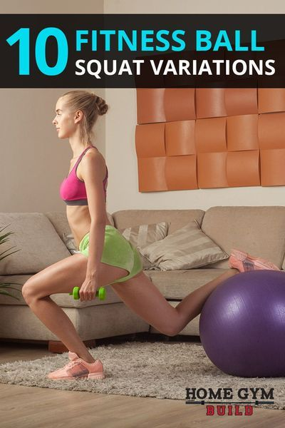 10 Fitness Ball Squat Exercises