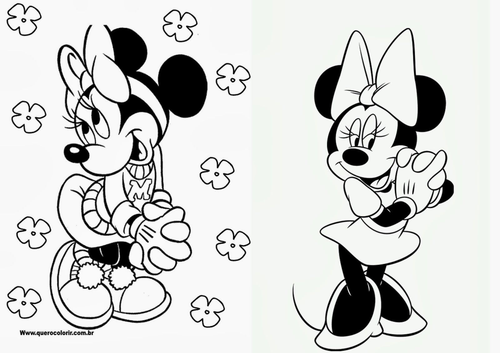 Minnie Libro Para Colorear Para Imprimir Gratis Con Imagenes