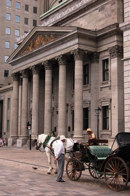 """Bank of Montreal by rbellemare - Located on the parade ground in front of the Basilica Notre-Dame on the """"Place d'armes"""", the first headquarters of the Bank of Montreal was built between 1845 & 1847."""