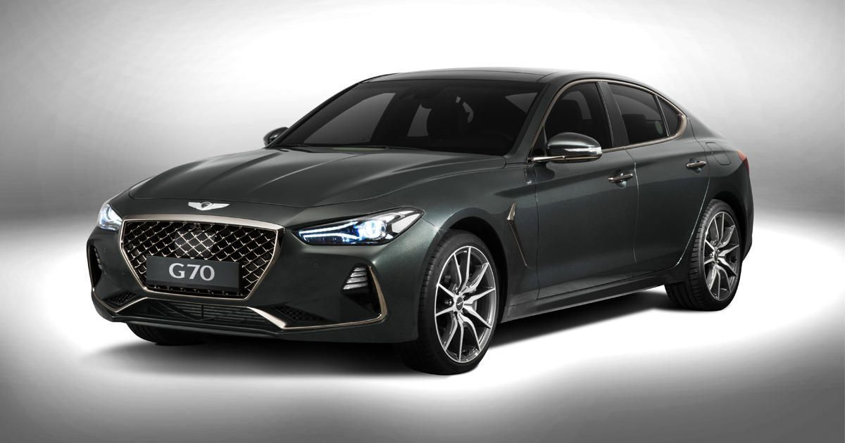 2019 Genesis G70 Will Be Sold With A Six Speed Manual Transmission Hyundai Genesis Bmw Hyundai Genesis Coupe