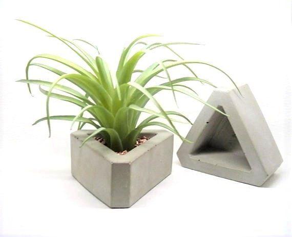 Concrete Planter triangular, modern Décor Pflanzgefäße
