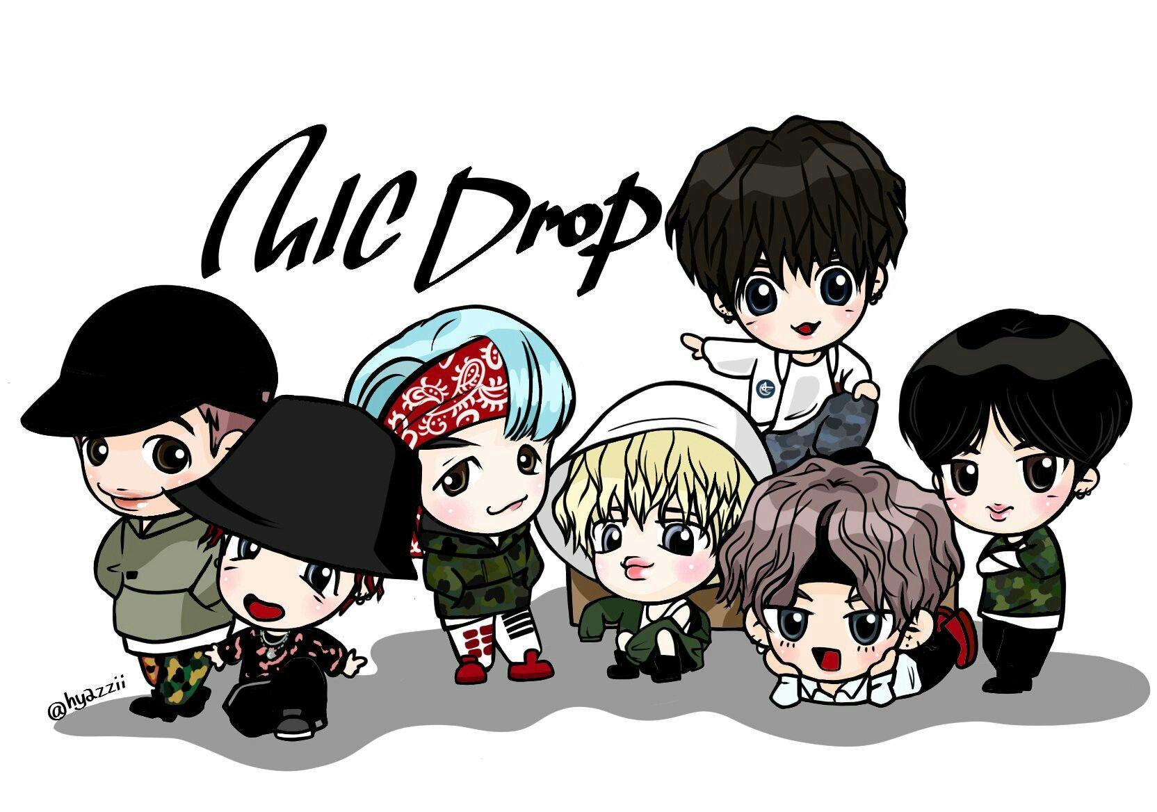 Mic drop bts Fanart ♡ Çizim