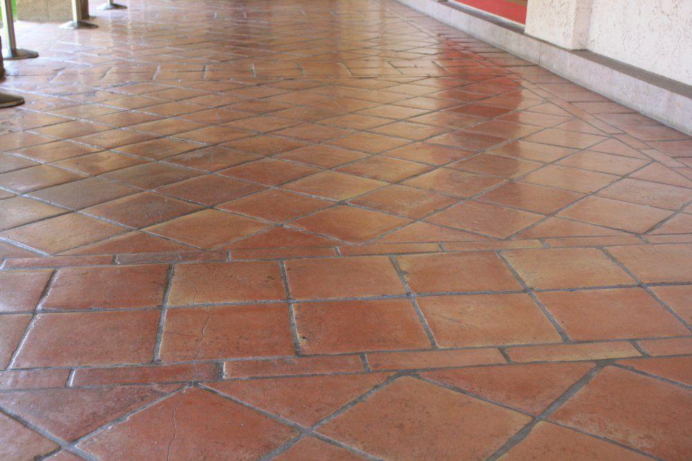 Saltillo tile photos saltillo floor tile in a diagonal for Spanish style floor tiles