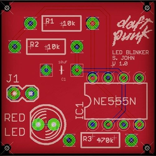 Learned to design my first PCB layout in Eagle @HacklabTO. One ...