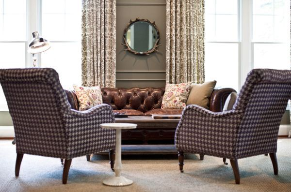 Classic And Wonderful Chesterfield Sofa An Eclectic Home Office Featuring A Leather