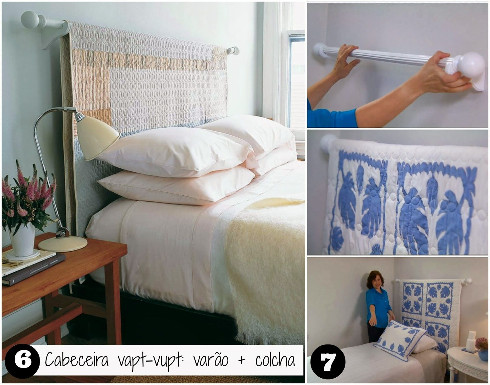 6a0c923c1 18 ideias para Decorar a cabeceira com tecido