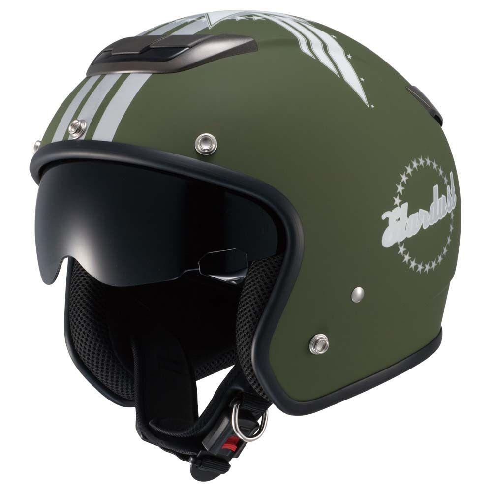 マットグリーン мото шлемы Biker Helmetscafe Racer Bikeshelmet