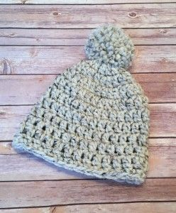 00db613e19e Make the Lakeside Beanie by Stitch   Hustle with Lion Brand Wool-Ease Thick    Quick! This is a great project for beginners - get the free crochet  pattern ...