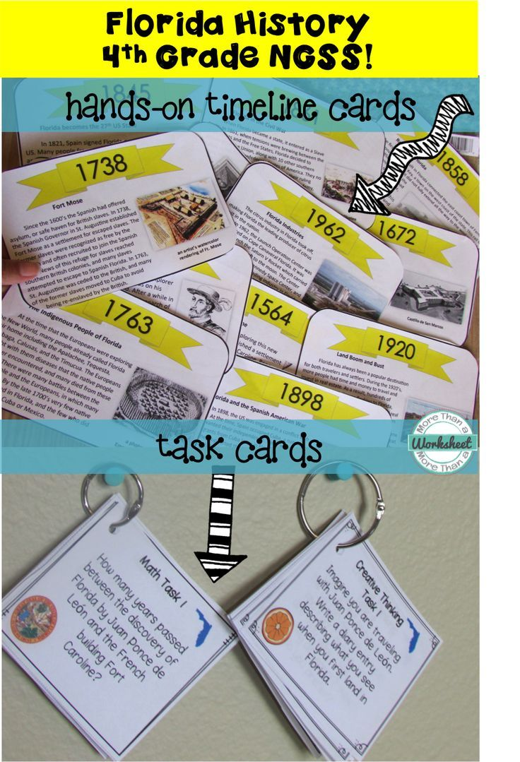 worksheet History Of Flight Timeline Worksheet florida history timeline task cards common core ela ela