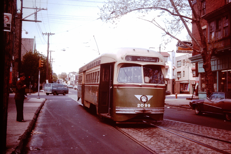 SEPTA RT.15 AT 63RD. AND GIRARD. 1970S