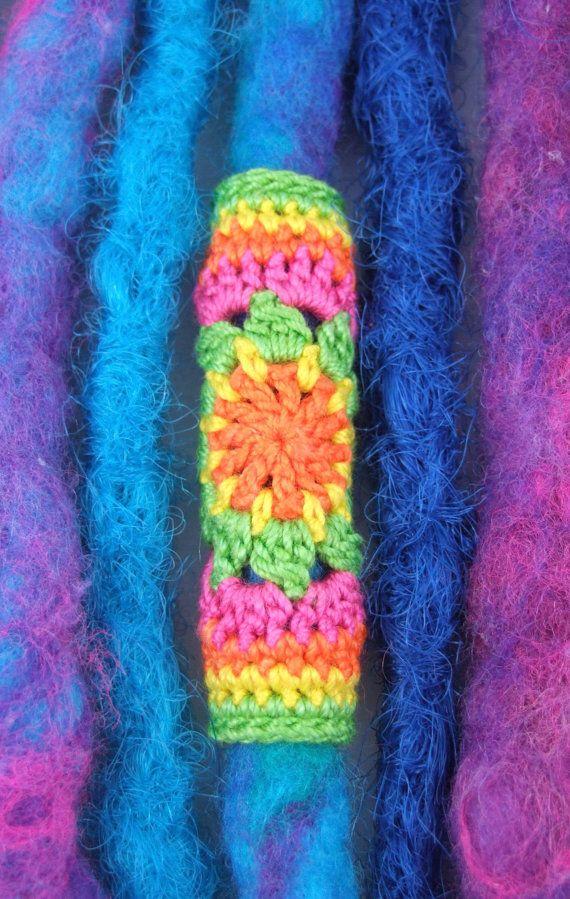 Tutti Frutti Mandala Dreadlock Bead Crocheted Dreadlock Cuffdread