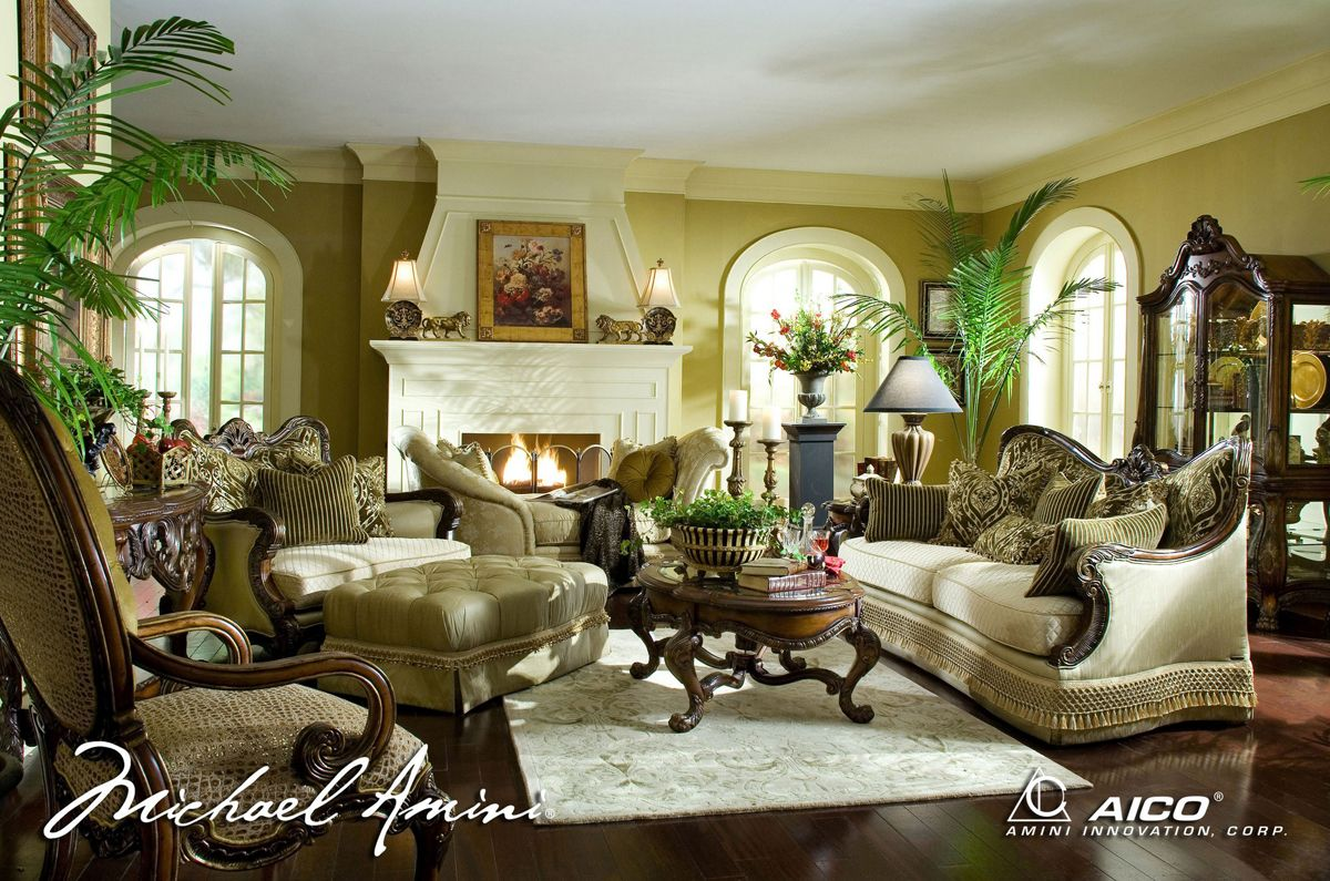 Michael amini chateau beauvais luxury traditional formal - Elegant formal living room furniture ...