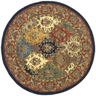 Shop for Safavieh Handmade Heritage Timeless Traditional Multicolor/ Burgundy Wool Rug (8' Round). Get free shipping at Overstock.com - Your Online Home Decor Outlet Store! Get 5% in rewards with Club O!