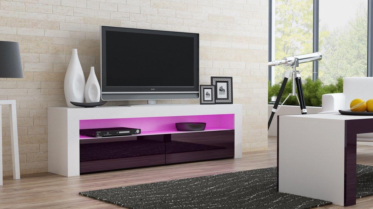 Design Tv Kast : Milano white tv meubels white tv unit white
