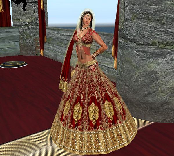 A This Is Hindu Wedding Dress B Represents Part Of The Culture With Colors And Style C It Has Very Intricate Designs That Show