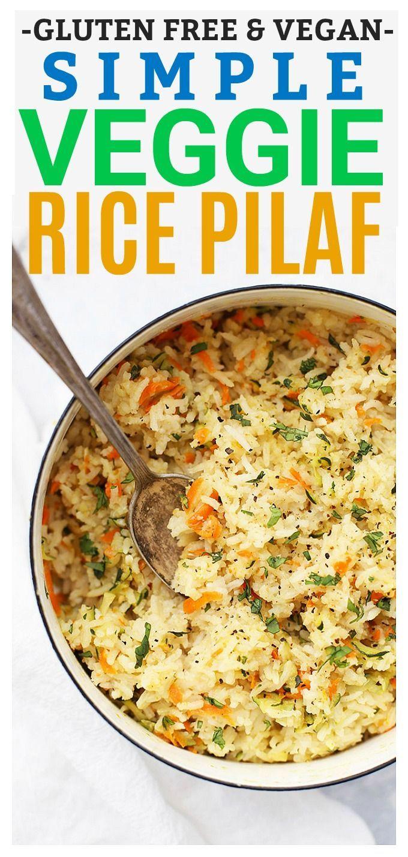 Simple Veggie Rice Pilaf
