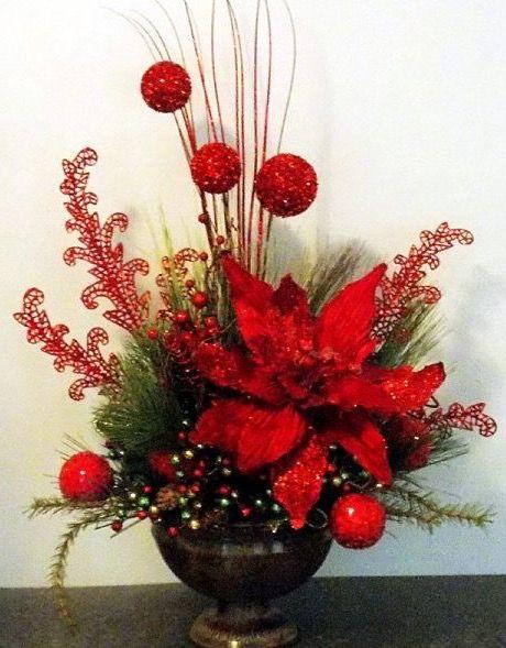 Pin de adriana caetano en decora o de natal pinterest for Arreglos navidenos para mesa