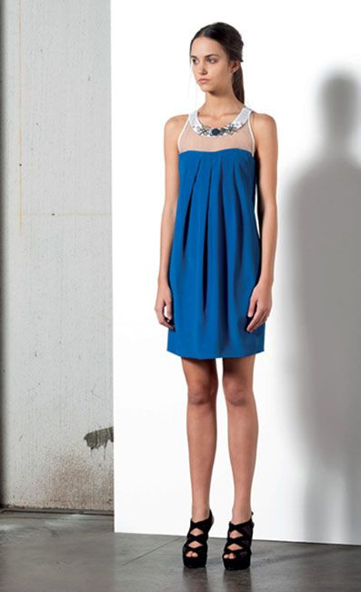 Look 84 . 332 Abito / Dress . 216P Scarpa / Shoes
