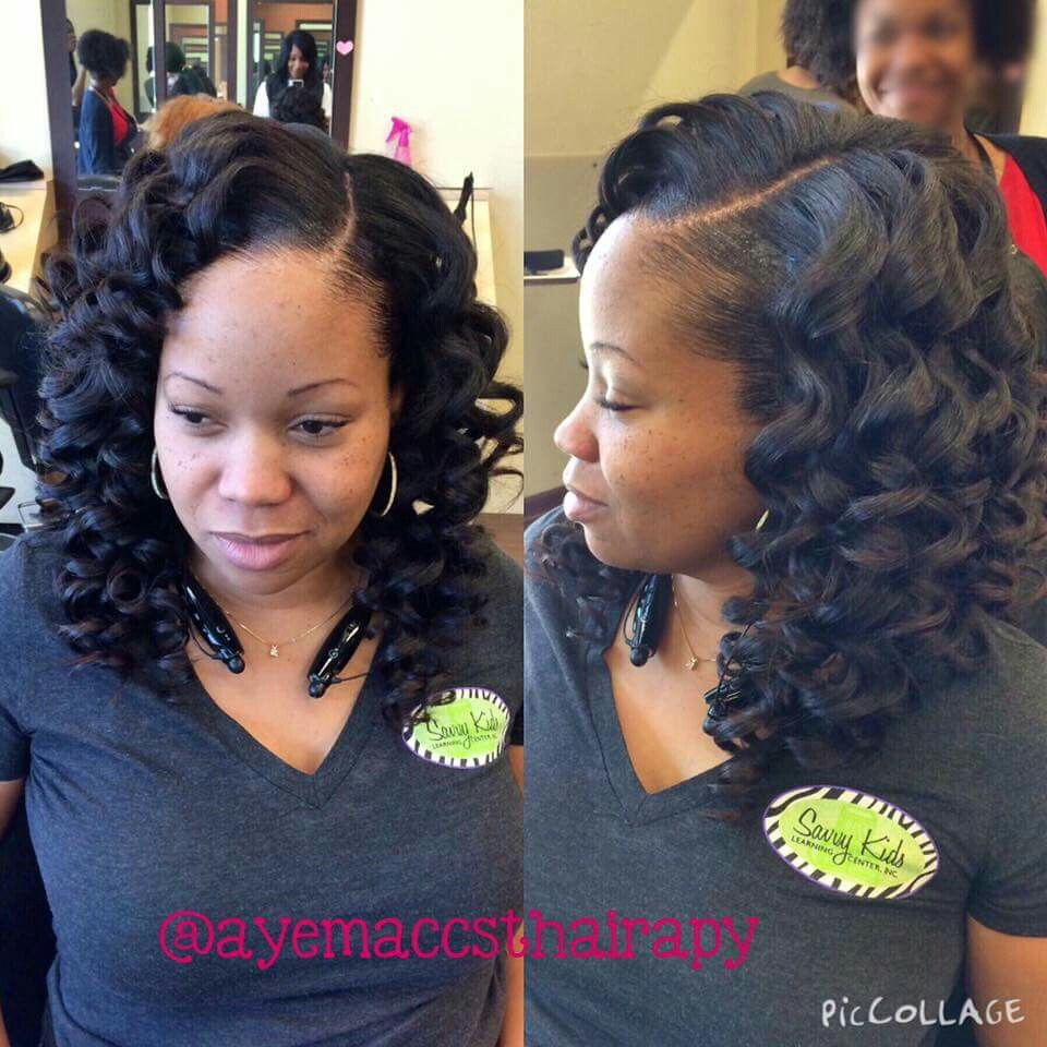 49+ Side part sew in with wand curls trends