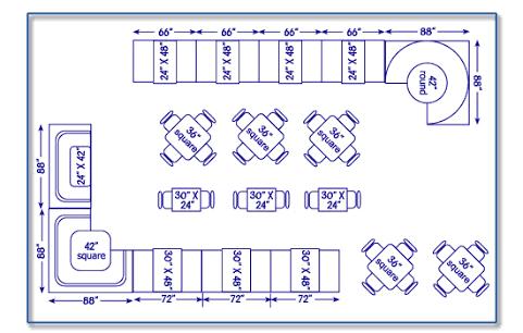 image result for cafe seating arrangement restaurant. Black Bedroom Furniture Sets. Home Design Ideas