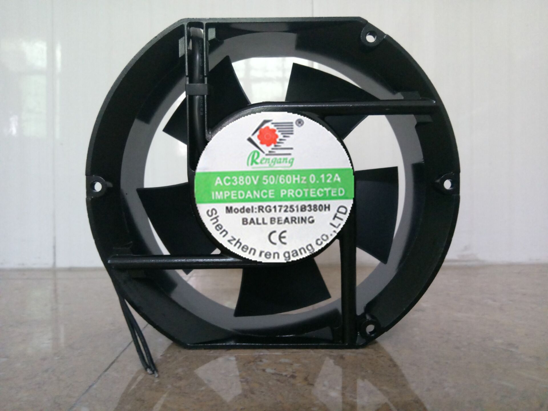 Rg17251b380h Ac 380v 0 12a 50 60hz 2 Wires Cabinet Cooling Fan