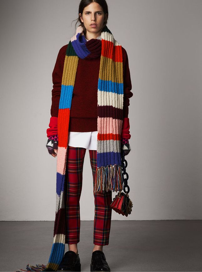 Scarves For Men In 2019 Knit Wool Scarf Burberry Scarf Knit
