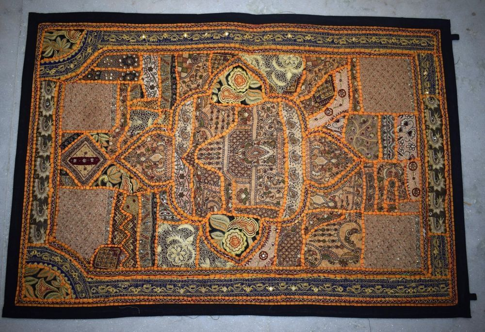 Ethnic Handmade Wall Hanging Indian Traditional Antique Tapestry 60 By 20 Inches