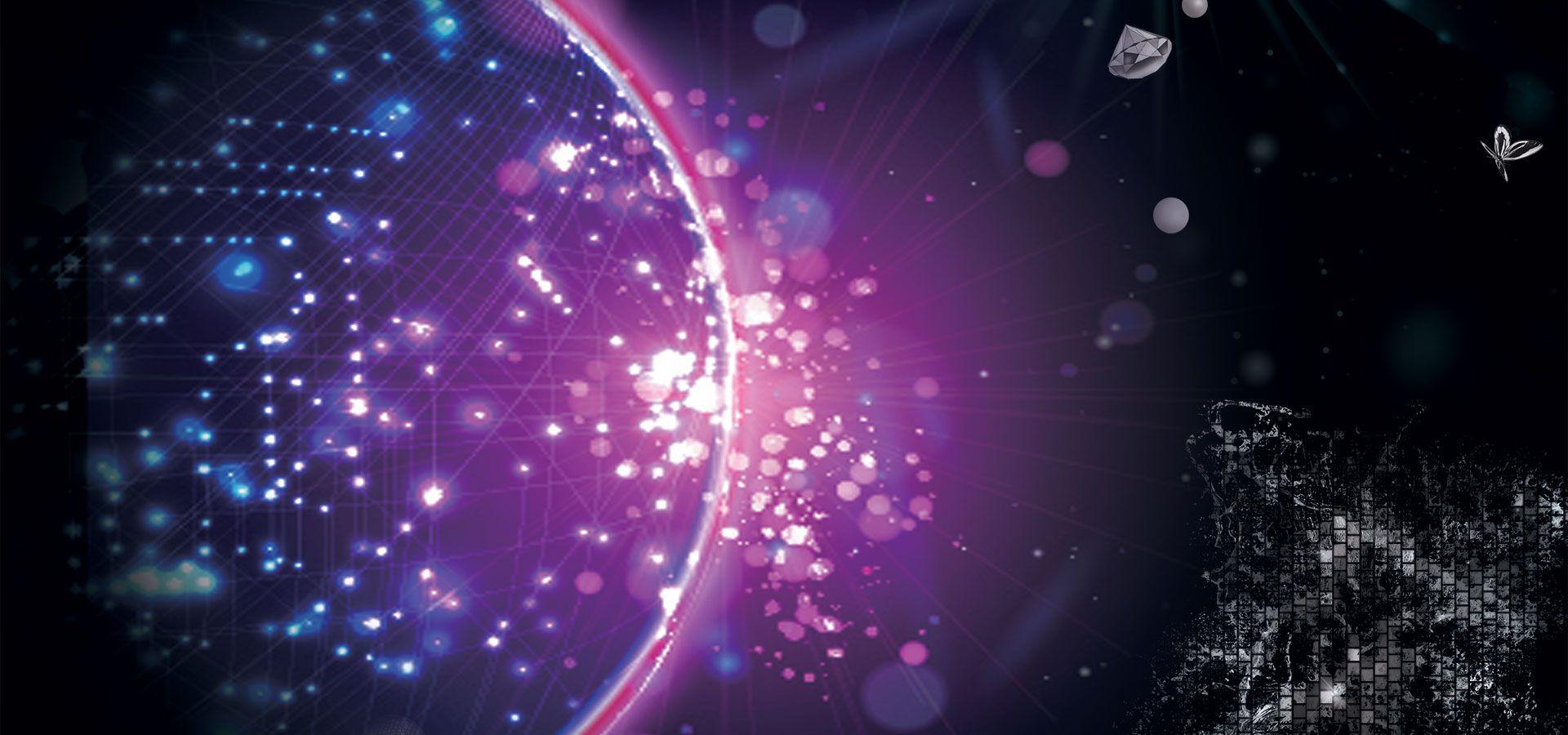 خلفية التكنولوجيا Lights Background Background Light