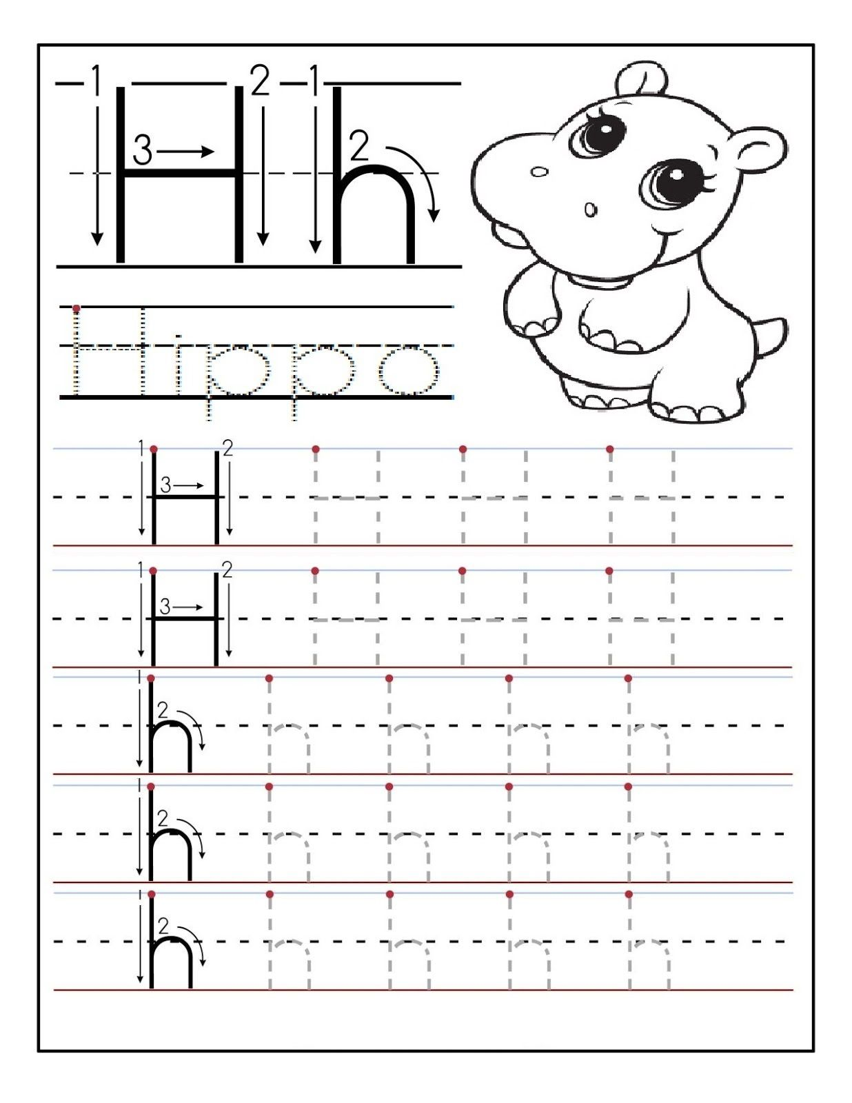 Image Result For Letter H Worksheets